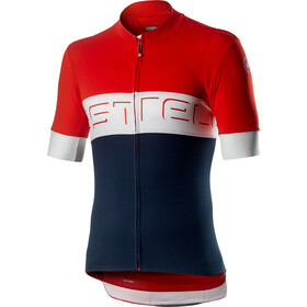 Castelli Prologo VI Maillot manches courtes Homme, fiery red/ivory/dark infinity blue
